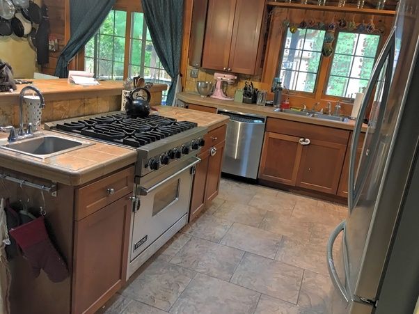What Flooring Goes With Cherry Cabinets