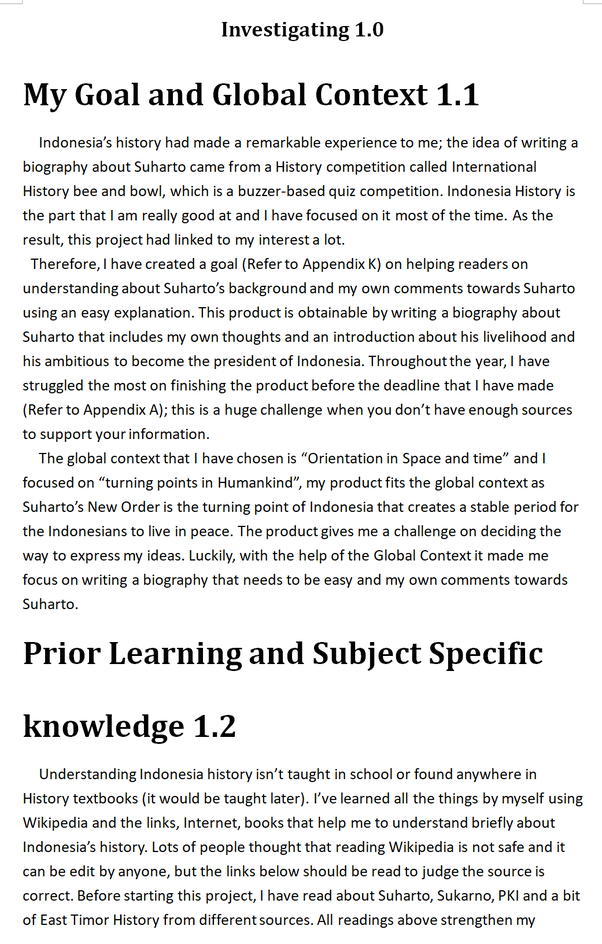 How To Write The Introduction Of My Myp Year 10 Personal Project Quora