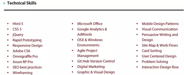 What does the resume/CV of a UI/UX designer who got job at top tech ...