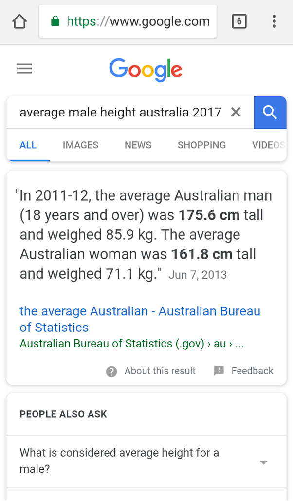 What is the height of the average man