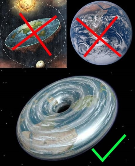 Image result for Flat Earthers are now saying the Earth is a donut because why the f*#k not