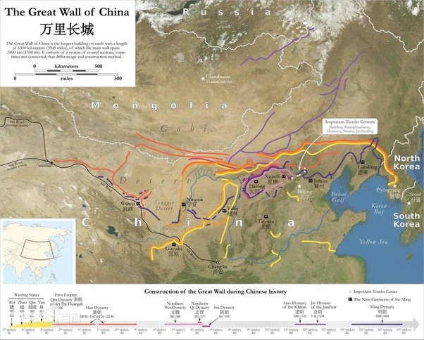 How to visualize the Great Wall of China using Google Earth - Quora