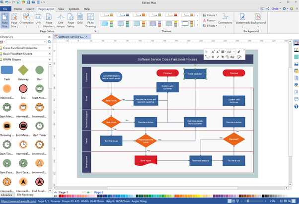 How to make a flowchart in windows 7 that can be edited is there i can enjoy lots of built in symbols template examples diagram theme layout types etc all symbols can be quickly added by dragging and dropping ccuart Images