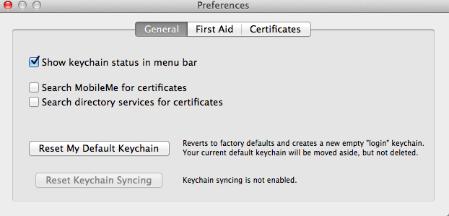 mac reset keychain unix invalid argument