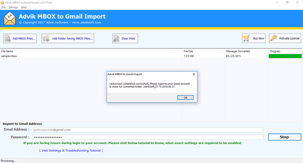 how to upload an apple mail email into my gmail account