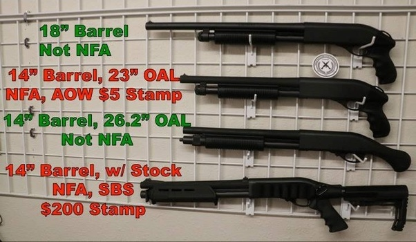 What are the differences in a shotgun that would require it