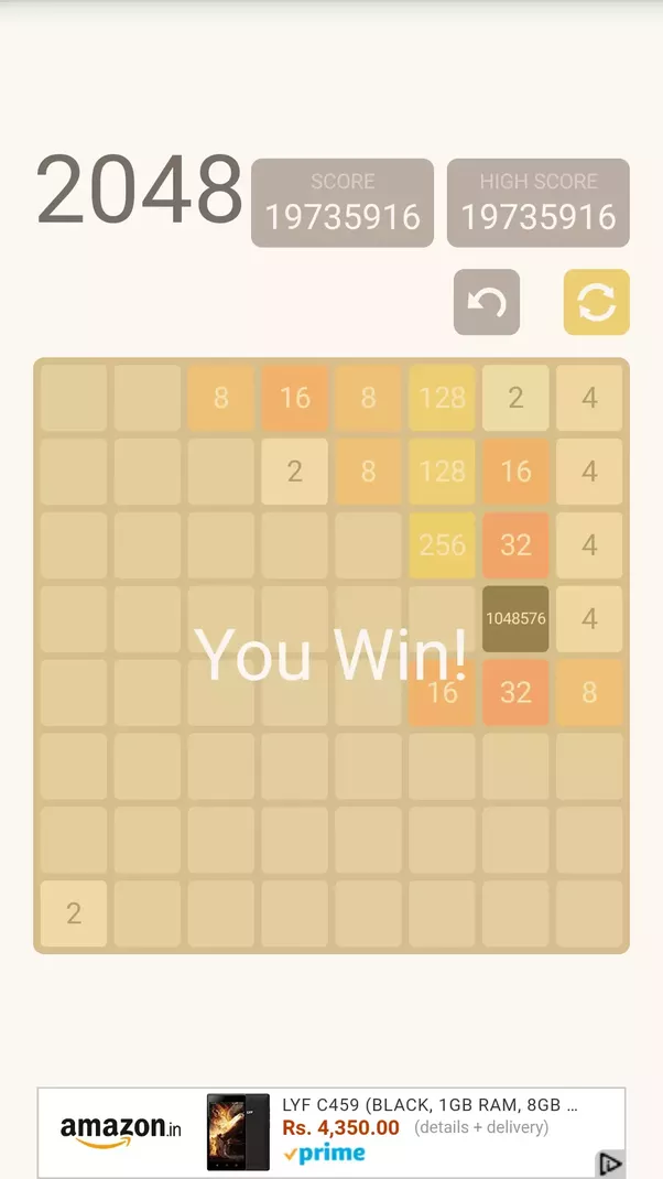 What is the world record for 2048? - Quora