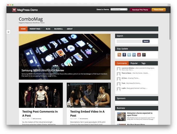 Where Will I Get A Free Wordpress Magazine Theme With Mega Menu Quora - Online magazine template