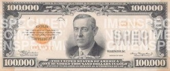 What is the largest denomination for paper currency in the