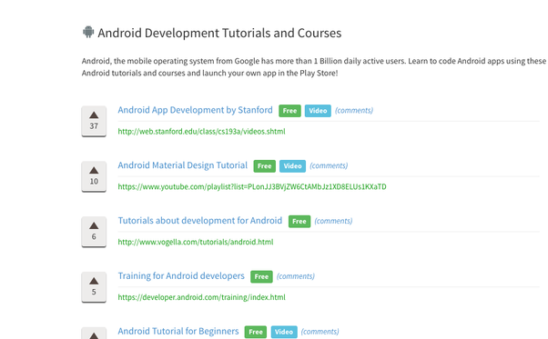 Which are the best YouTube tutorials to learn Android programming