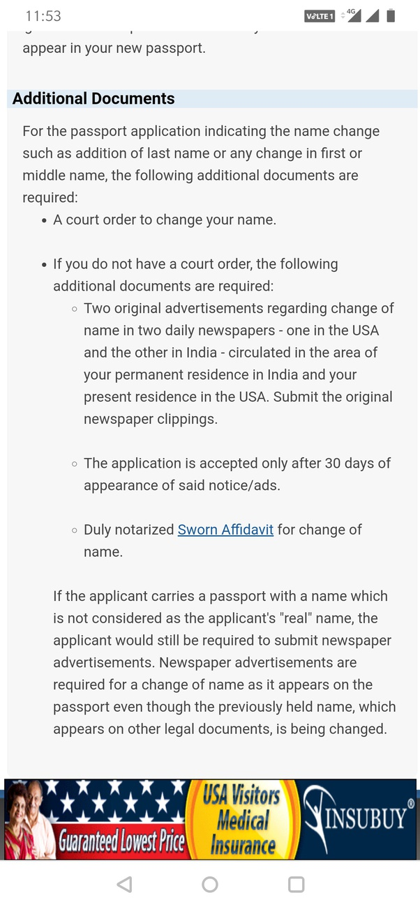 What Are The Procedures For Name Bifurcation In The Indian Passport Quora