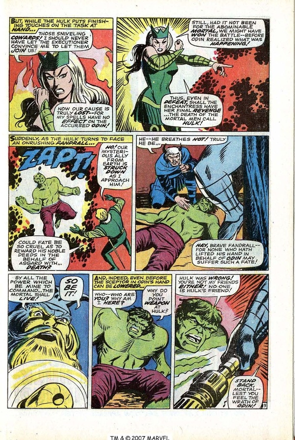If the Hulk was unleashed on Asgard, how long would it take