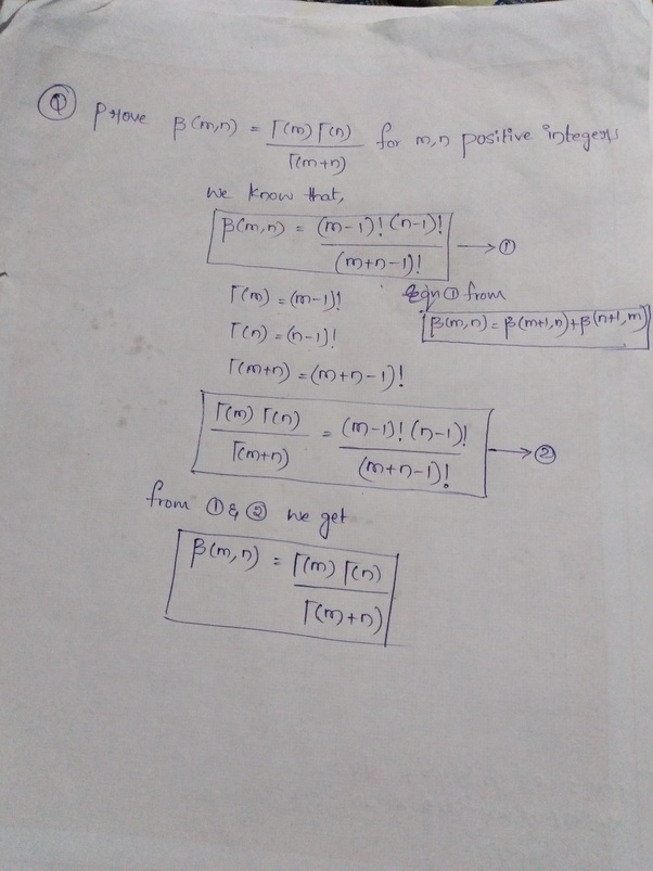 What is the proof of the relation between the beta and gamma
