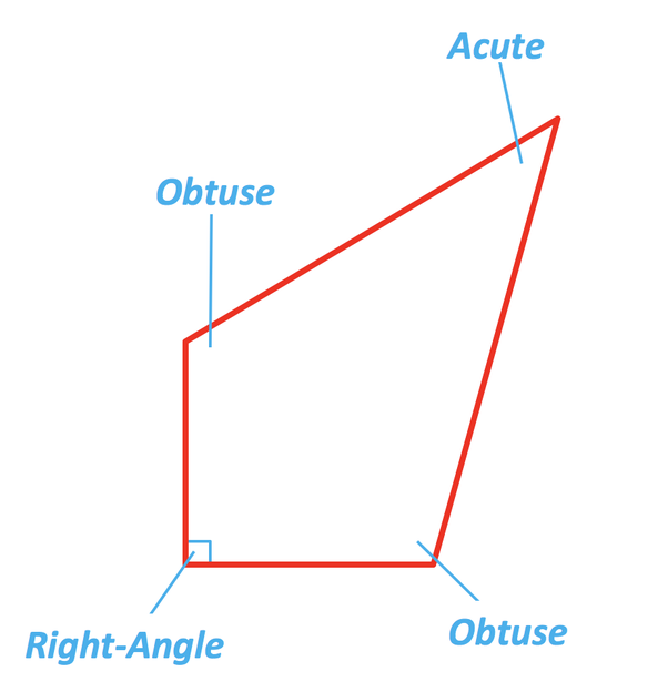 what is a quadrangle with one right angle
