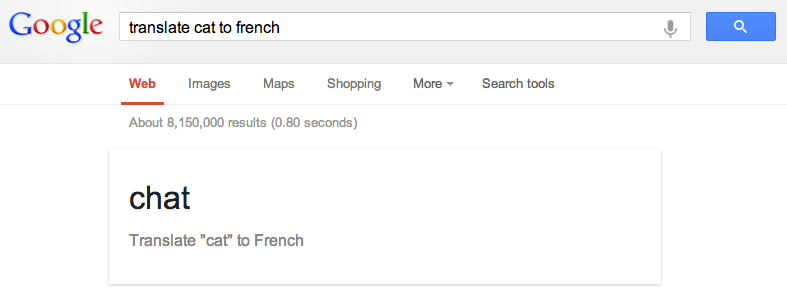 google translate in french