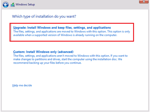 win 10 clean install partition