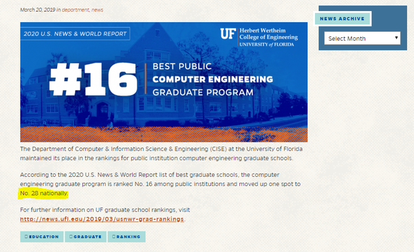 Uf Graduation Dates Fall 2020.Is The University Of Florida A Good College For Computer