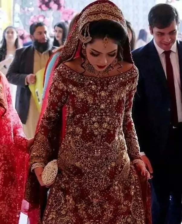 In pakistan what is the symbolization of a red wedding dress quora a pakistani politician who had a 15 day long wedding i saw her black white silvergrey green golden blu pink red and yellowcream dresses junglespirit Images