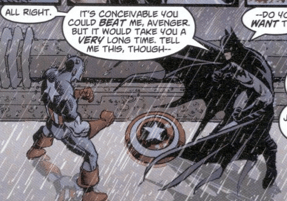 if captain america and batman were in a hand to hand fight no