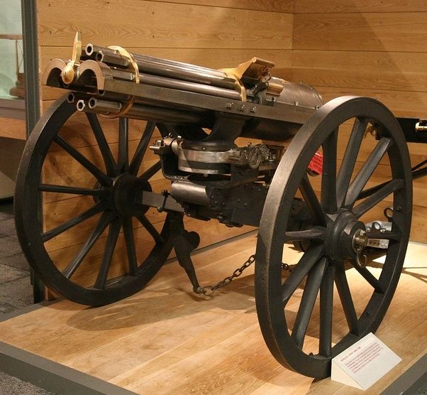 If the gatling gun was developed in the US Civil War, why
