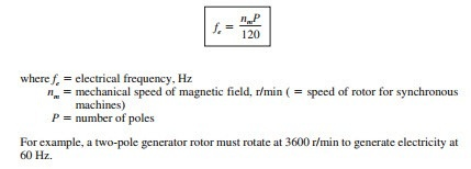 Is there an equation that relates speed to voltage in a
