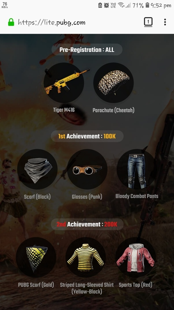 What are the free skins for pre-registered players in pubg