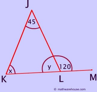 The exterior angle of a triangle is 140 degrees, and one of its interior opposite angle is 75