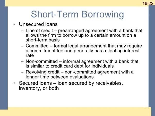 Advantages Of Short Term Loans For Business