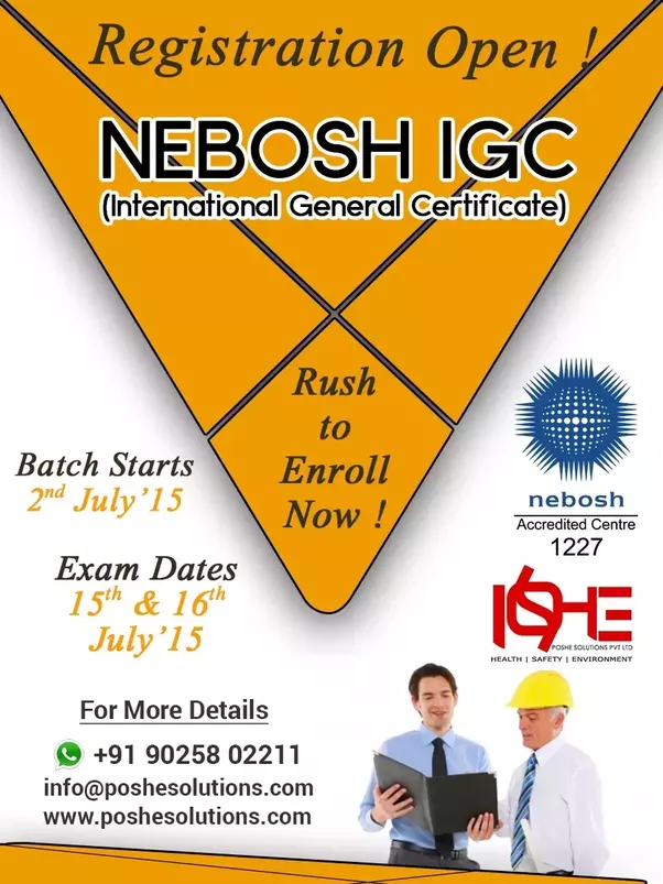Nebosh International General Certificate In Occupational Health And Safety Delivers A Sound Foundation For Progression To The Diploma