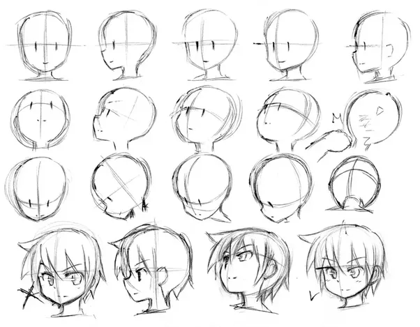 To draw them from scratch theyll probably look too realistic so my advice is that you watch a bunch of anime to see how their face expressions change