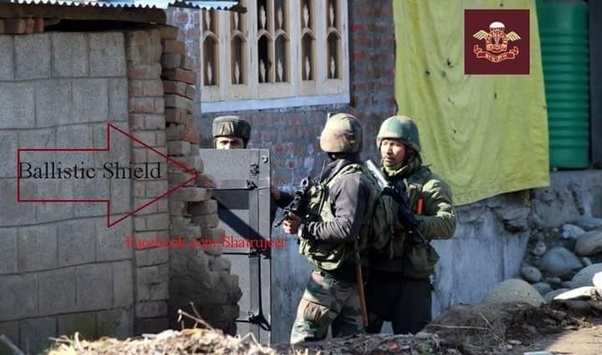 why have indian forces in kashmir started using ballistic shields in