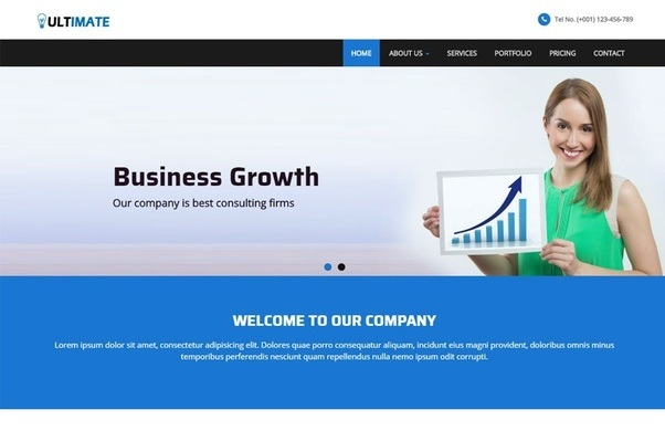 What is a good static website template or generator for a consulting web templates webthemez accmission Images