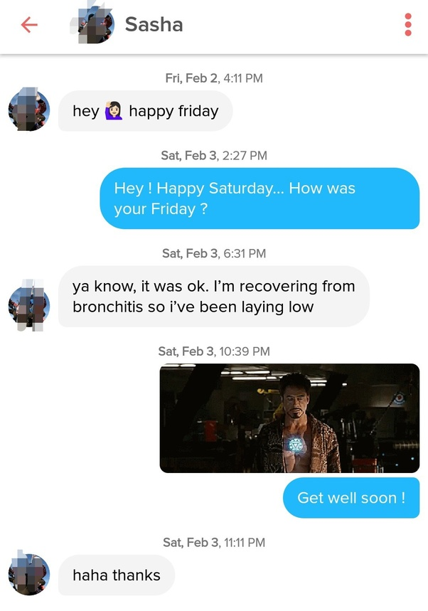 What should you message to a girl you've matched on Tinder