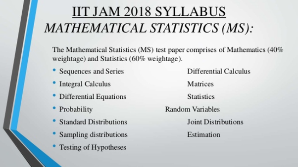 How to prepare for IIT JAM mathematical statistics - Quora