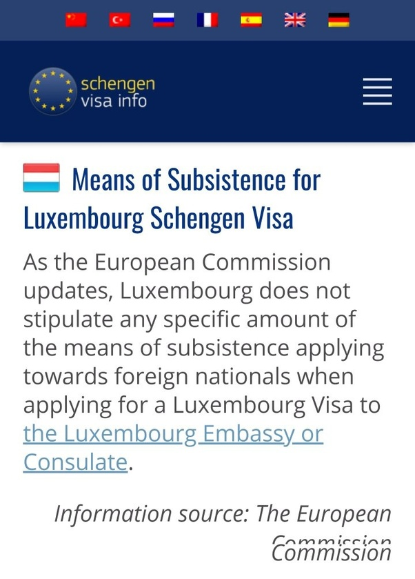 How much bank balance do I have to show for a Schengen visa