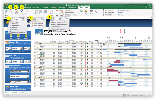 Download Gantt Chart Excel With Dependencies | Gantt Chart ...