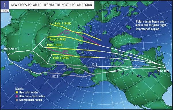 Do Flights Fly Over The North Or South Pole Quora