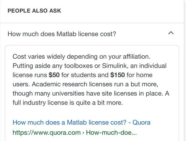 How much does a Matlab license cost? - Quora