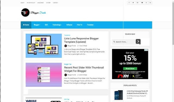 Blogger Com Templates | How To Download A Blogger Premium Template Without Cost Quora
