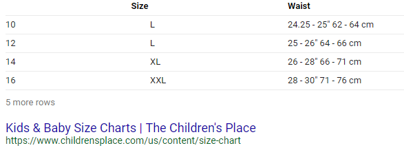 How To Convert Kids Clothing Sizes To Womens Clothing Sizes Quora