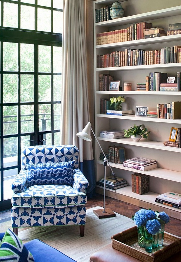 Standalone Units And Floating Wall Shelves Are Popular Choices In Modern  Reading Corners.