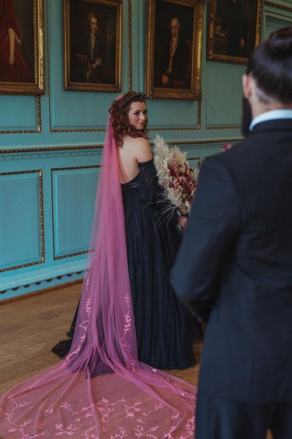 bride to wear a black wedding dress
