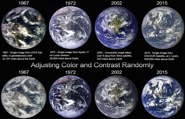 Why Do The Official Nasa Pictures Of Earth Change