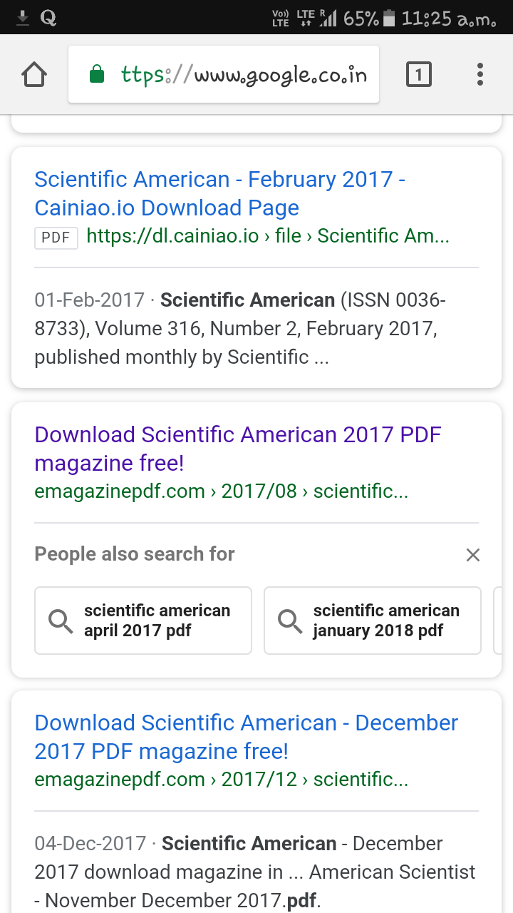 Scientific American Magazine Pdf