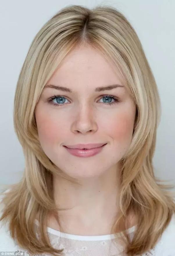 Blonde hair blue eyes women