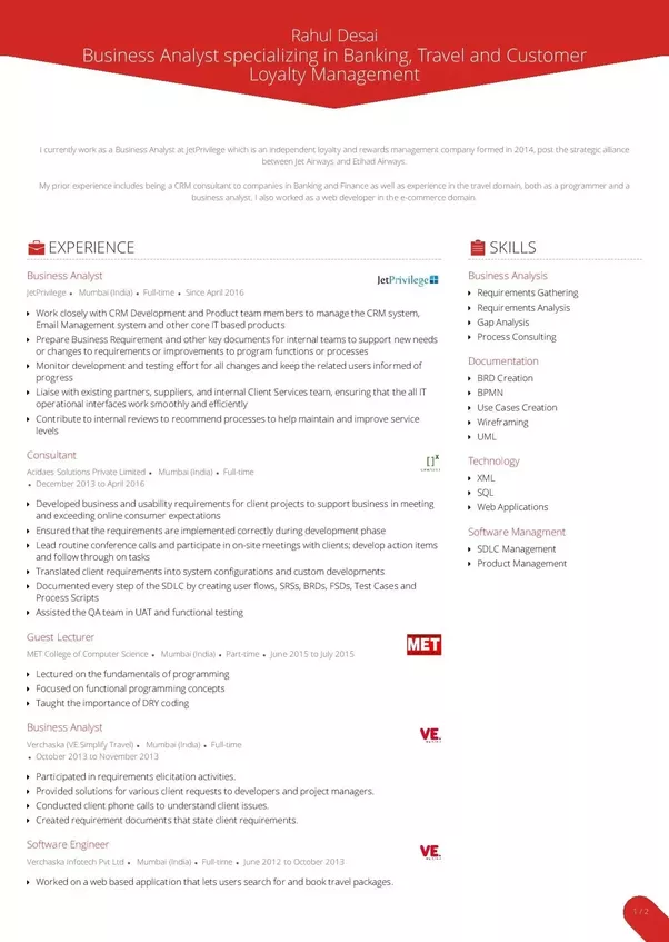 I want a Business analyst job. What can i do? How should my resume ...