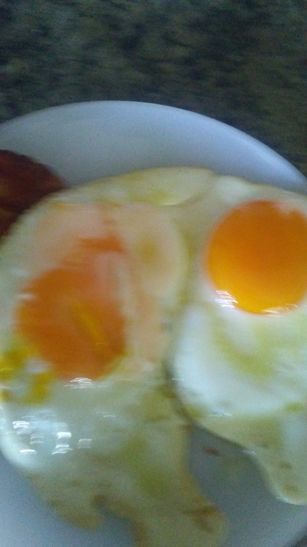 These Are Free Range Eggs Cooked In Olive Oil And Butter Notice How Dark The Yellow Is Not Pale Lifeless An Egg That Produced A Cage