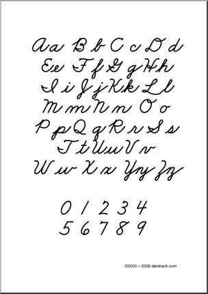 (image Source: Www.abcteach.com/directory/subjects Handwriting  Zb Style Font Cursive 63 2 1)