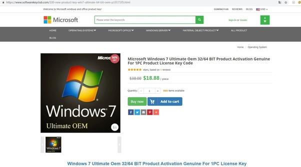 new windows 7 product key buy