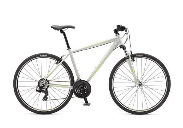 6c6e3658164 The Searcher 4 hybrid bicycle comes with a triple-butted lightweight  aluminium frame and Shimano Tourney components with 21-speed.